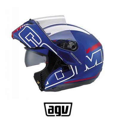 AGV Compact Seattle Matt blue/White/Red